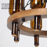 plant wine bottle hanging chain chandelier