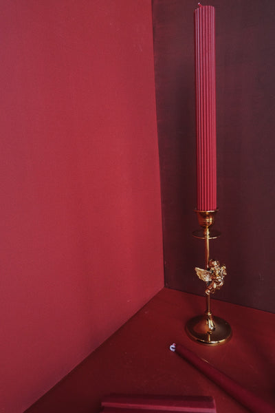 KAWA solid red handmade candles wedding candles -  westmenlights