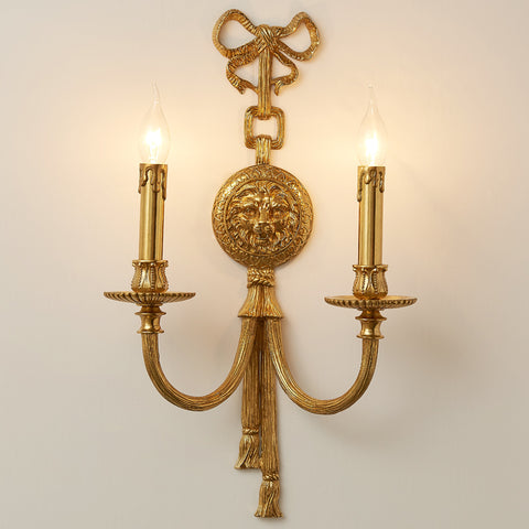 gilt bronze lion sconce -  westmenlights
