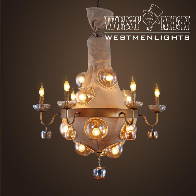 Rope Lotus Linen Chandelier -  westmenlights