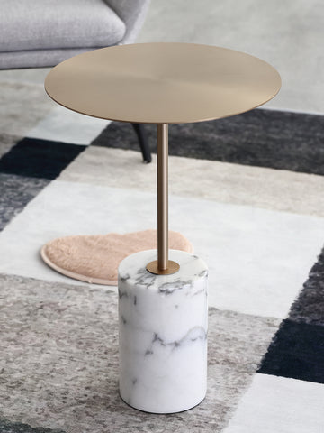 Modern Marble Circular Coffee Side Table
