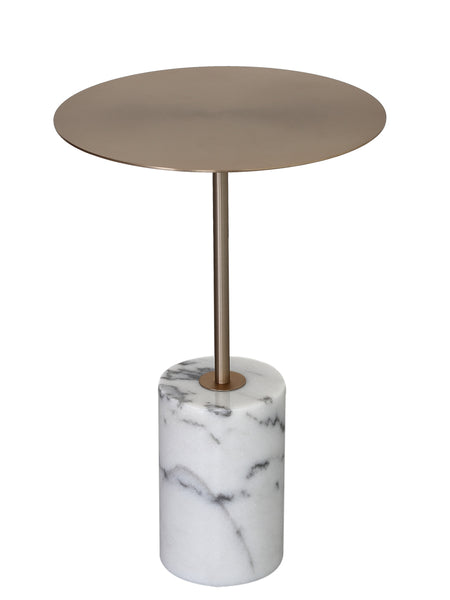 Modern Marble Circular Coffee Side Table -  westmenlights
