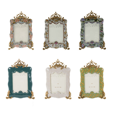 KIMO porcelain photo frame with gilt bronze