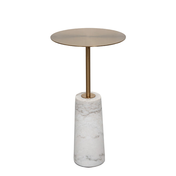 Nature Marble Side Table Black/White -  westmenlights