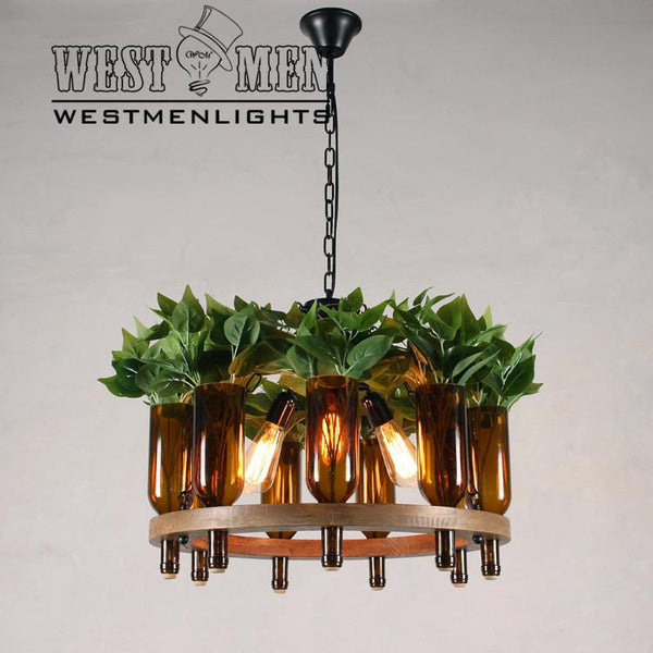 plant bottle hanging chain chandelier -  westmenlights