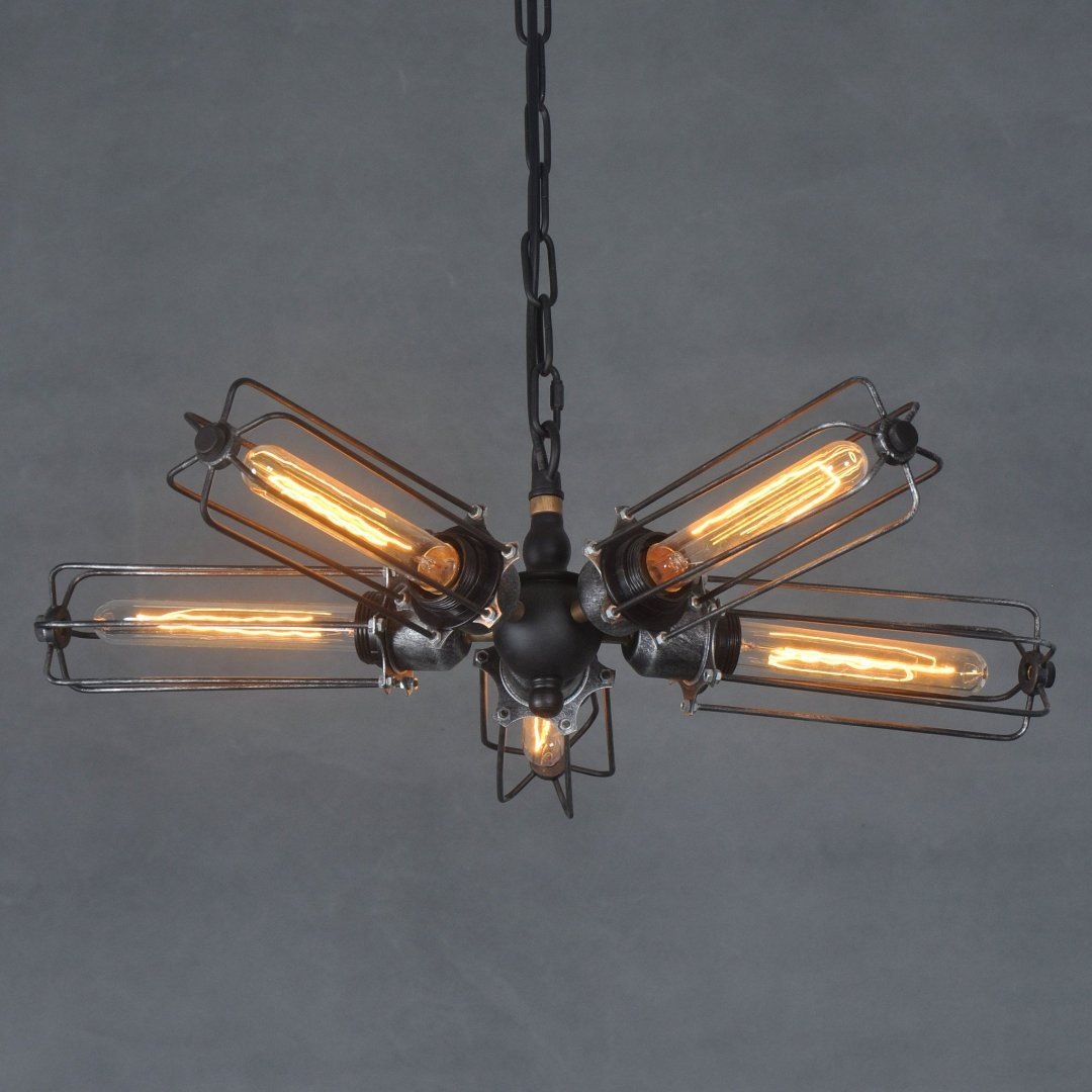 men cage pendant metal west art lights vintage from ceiling flush rustic industrial reveals fans lighting fan lamp light named mount with ideas