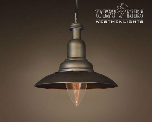 Cone 1 Light Brown Hanging Pendant Lighting -  westmenlights