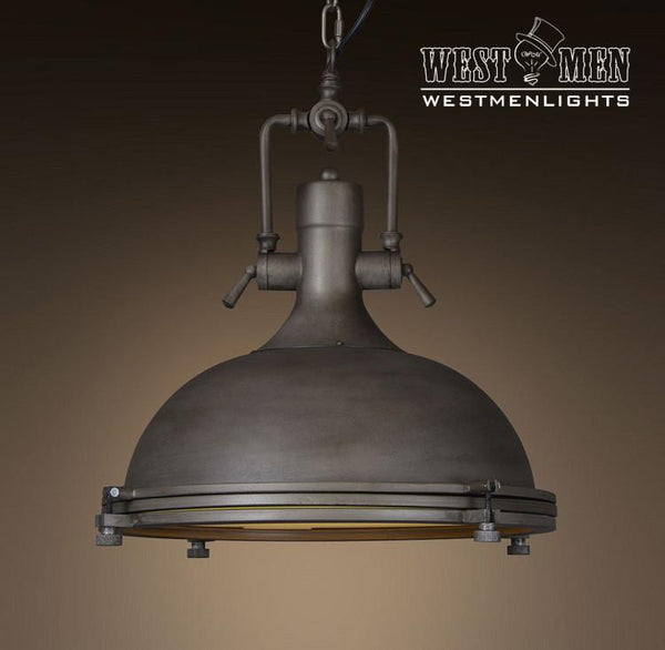Large Dome 1 Light Brown Pendant Light -  westmenlights