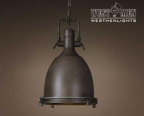 Dome 1 Light Brown Large Pendant Lighting