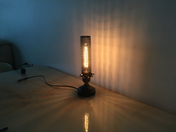 mini industrial proforated table lamp