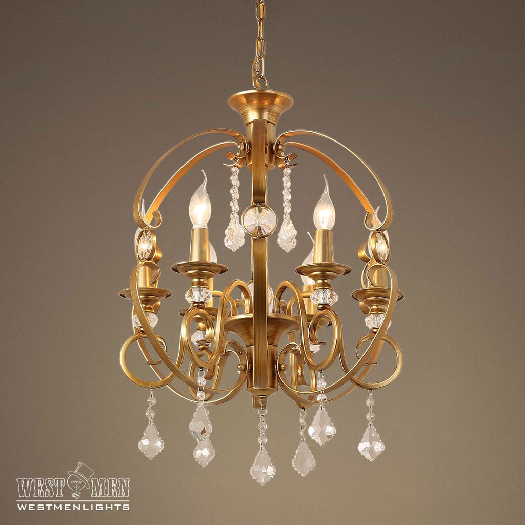 GOLDEN Globe 6 Light Candle Crystal Pendant Light -  westmenlights