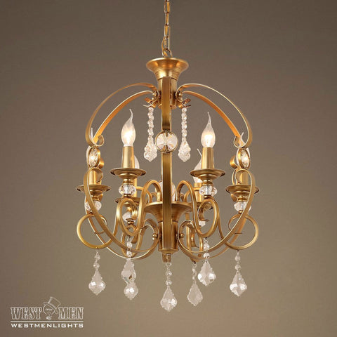 GOLDEN Globe 6 Light Candle Crystal Pendant Light