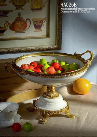 Handmade Porcelain Fruit Bowl Trophy Craft