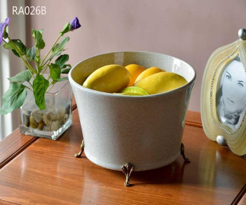 Modern European Porcelain Fruit Bowl Handmade