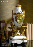 Bronze Angel Mounted Luxury Porcelain Clock