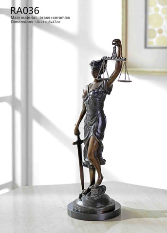 Unique Goddess of Justice Statue