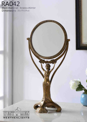 Gilt Brass Ormolu Mirror -  westmenlights