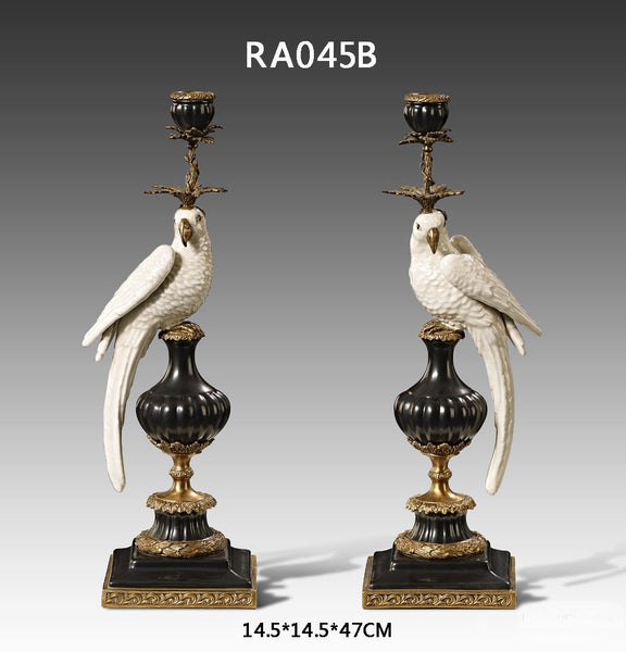 Pair(2 Pieces) Gilt Bronze Porcelain Candlesticks