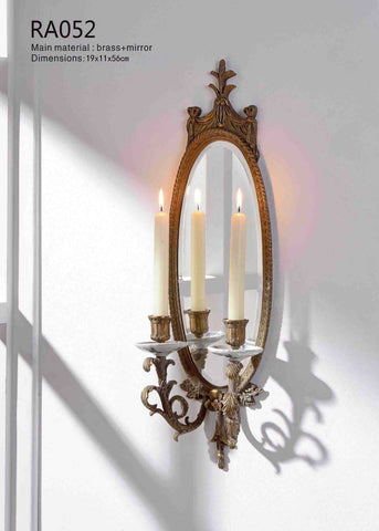Elliptical Hanging Mirror Candlestick -  westmenlights