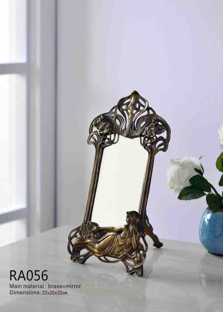 Gilt Bronze Mounted Table Mirror -  westmenlights