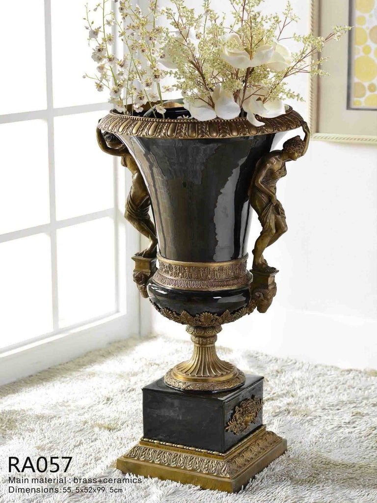 Classic Black and Bronze Vase -  westmenlights