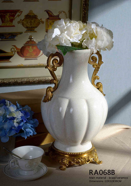 Porcelain Centerpiece Flower Vase