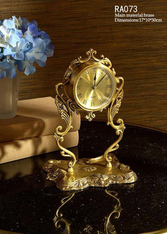 European Antique Tabletop Clock