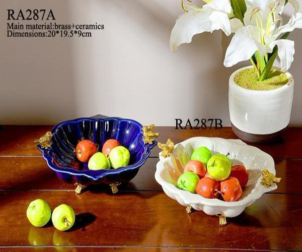 Handmade Bronze Porcelain Fruit Bowl -  westmenlights