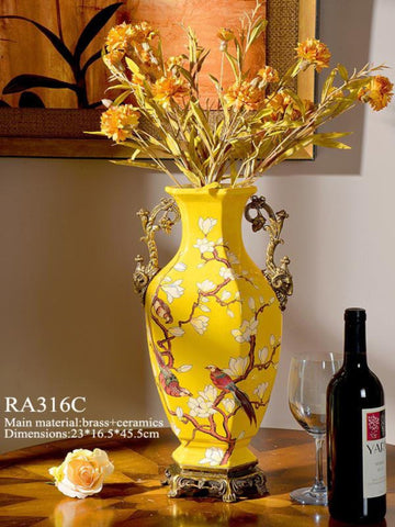 Hexagonal Base Classic Vase