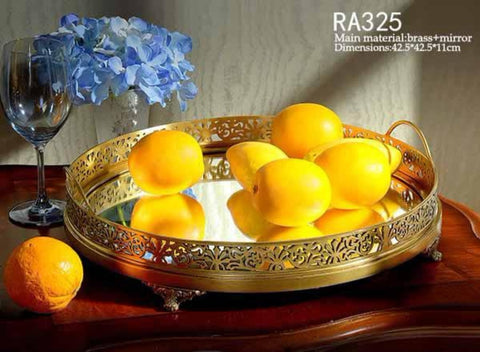 Bronze Binaural Mirrored Fruit Tray -  westmenlights