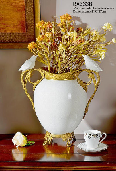 Gilt Bronze Decorative Flower Centerpiece -  westmenlights