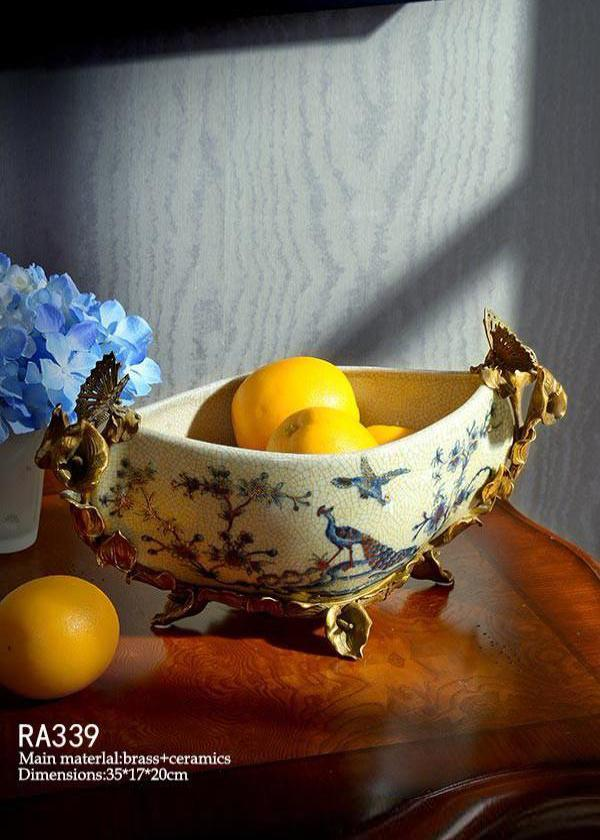 Golden Peacock Compote