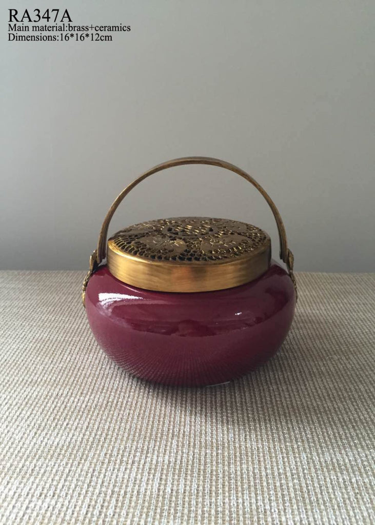 Red Decorative Incense Burner