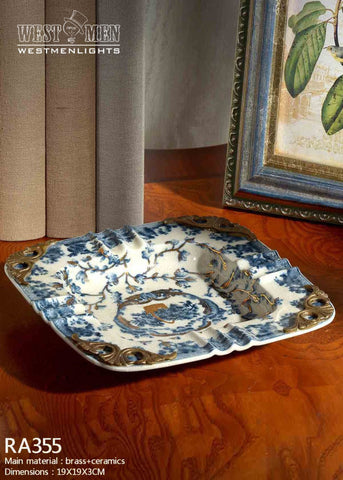 Bronze Mounted Porcelain Dish -  westmenlights