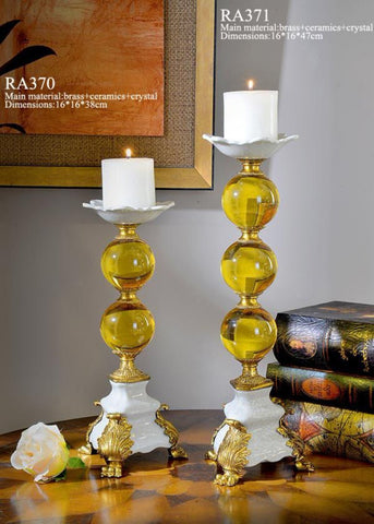 Creative Crystal and Porcelain Candlestick -  westmenlights