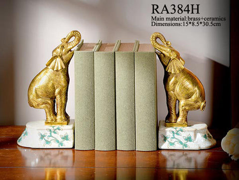 Luxurious Porcelain Brass Bookend Craft