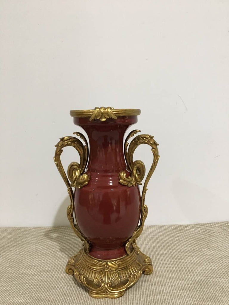 Gilt Bronze Mounted Decorative Vase -  westmenlights