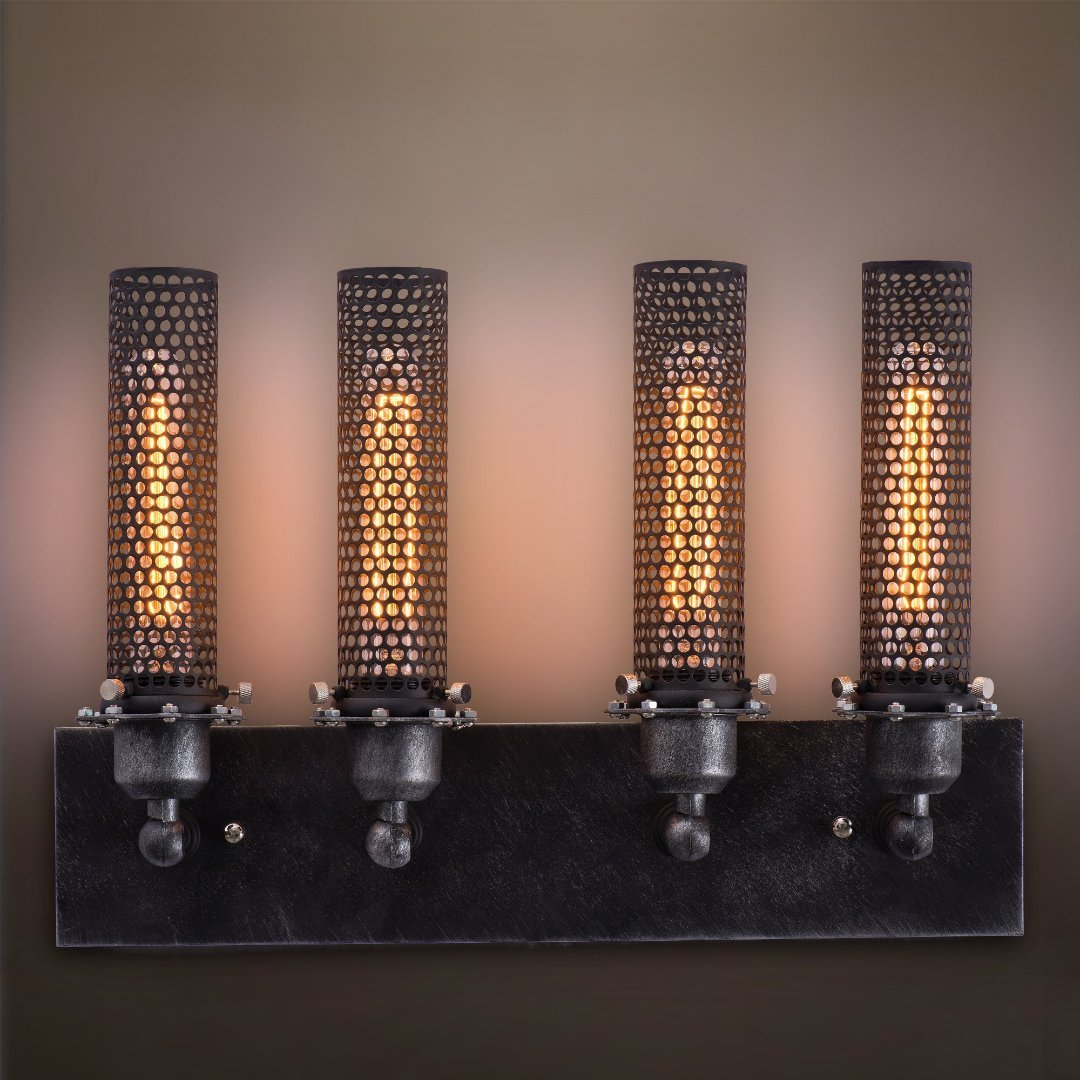 Wall sconce wall lighting fixtures westmen lights electric grid 4 lights vanity lighting wall sconce aloadofball Choice Image