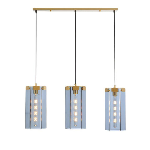 Rectangle Glass Golden Pendant Lights -  westmenlights