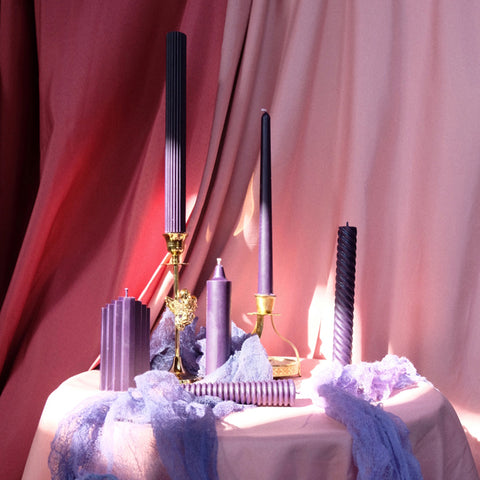 KAWA purple candles handmade candles Wedding Candles -  westmenlights