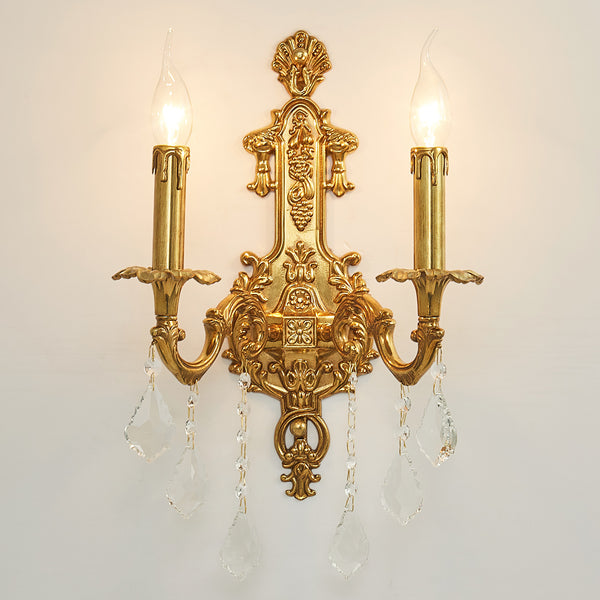 hallway gilt bronze sconce handcrafted wall lamp | Candle -  westmenlights