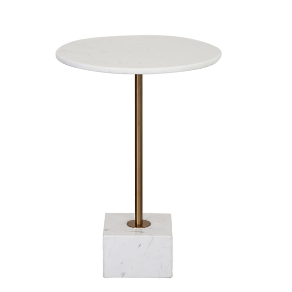 Cube Nature Marble Side Table -  westmenlights