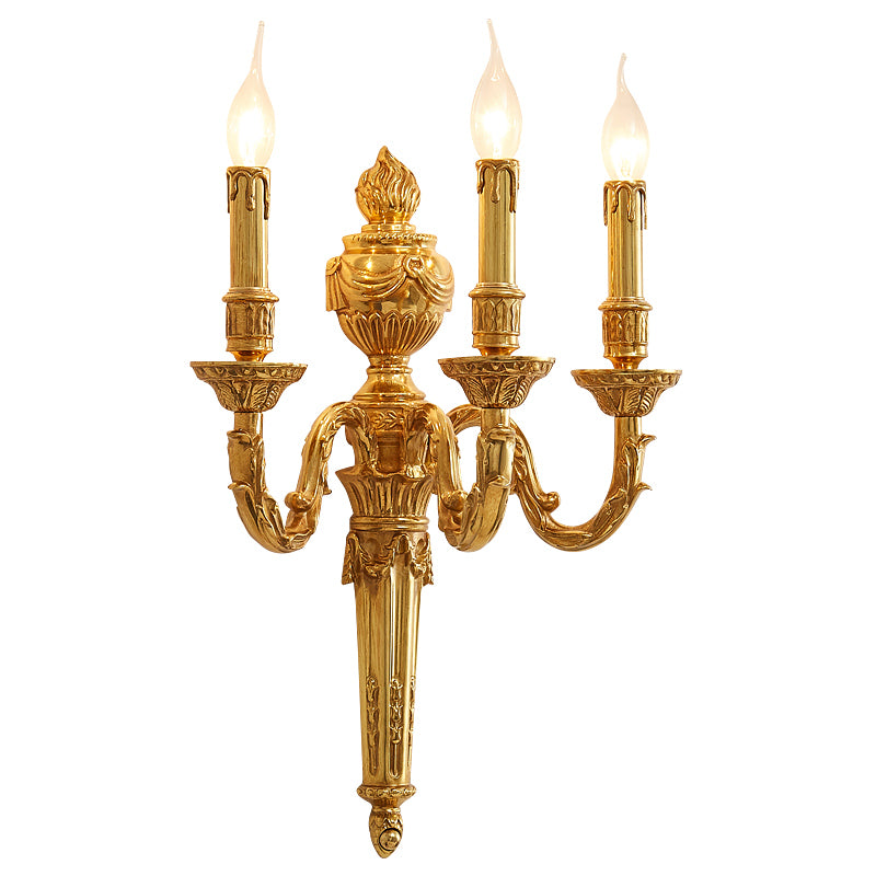 gilt bronze tripple bulb sconce -  westmenlights