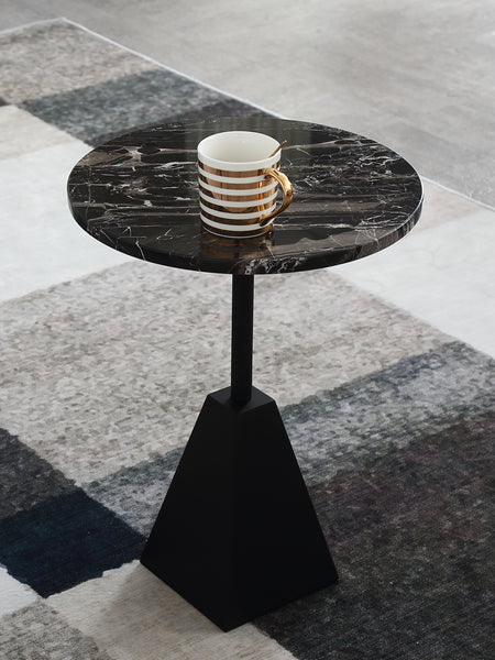 Nature Black Marble Side Table
