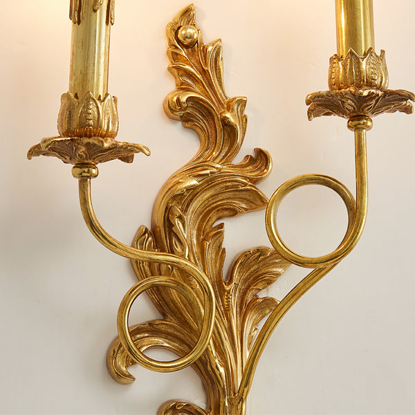 gilt bronze double sconce -  westmenlights