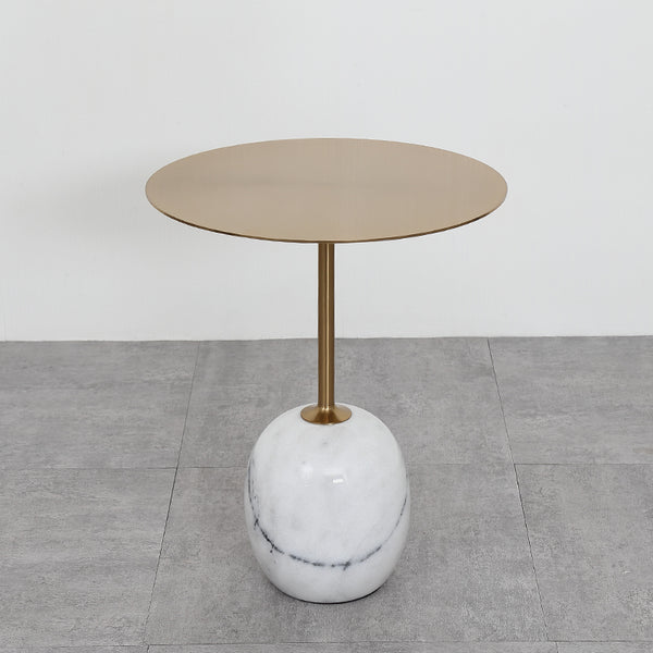 Nature Oval Marble End Table -  westmenlights