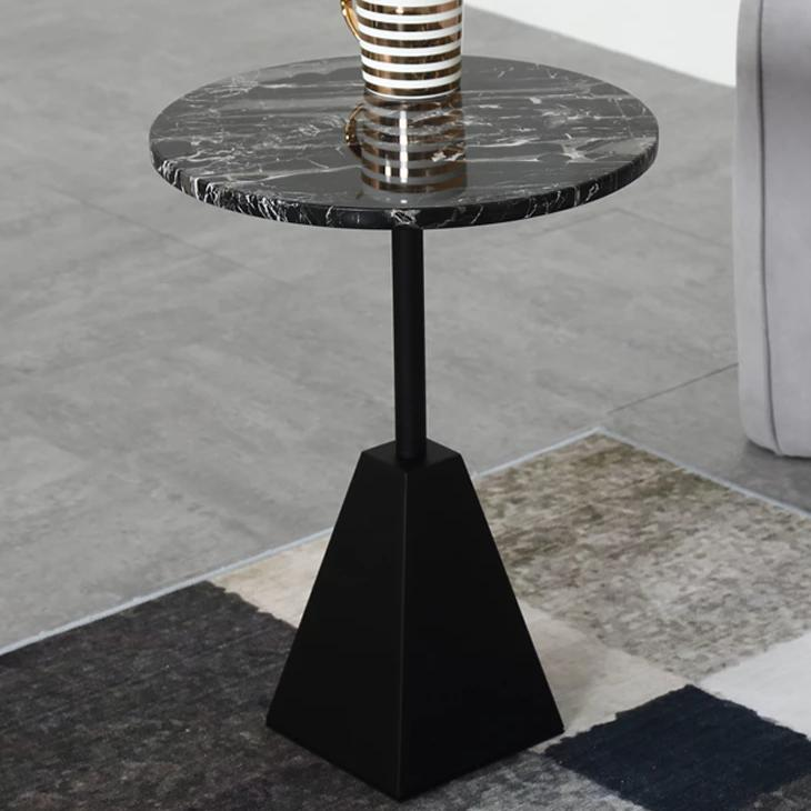 Nature Black Marble Side Table -  westmenlights