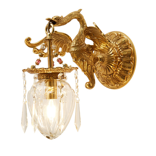 gilt bronze sconce with glass lampshades -  westmenlights