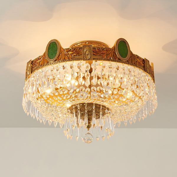 luxury ceiling lights with gilt bronze and crystal lampshades -  westmenlights