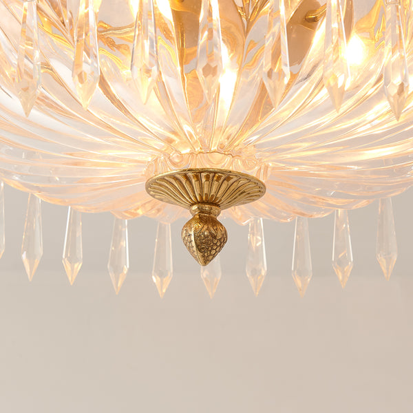 gilt bronze ceiling light with crystal lampshades -  westmenlights